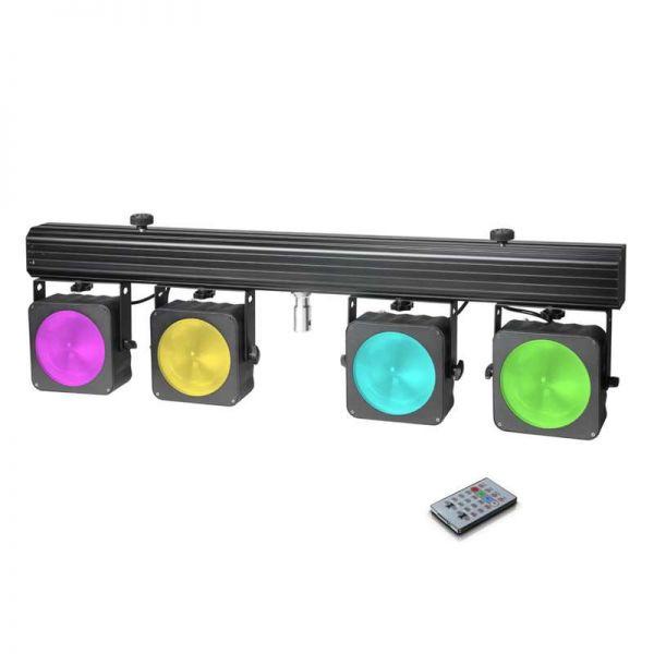 Cameo Multi PAR COB1 4x30 Watt RGB COB System+Case