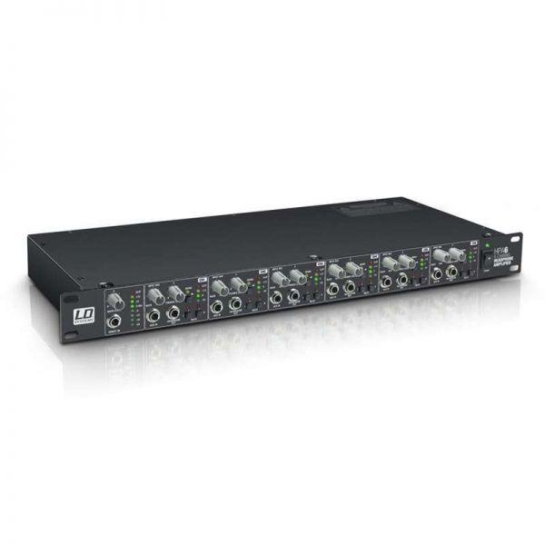 LD Systems HPA6 19 Zoll Kopfhörerverstärker 6Kanal