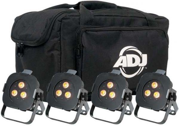 4x American DJ Ultra Hex Par3 mit Tasche