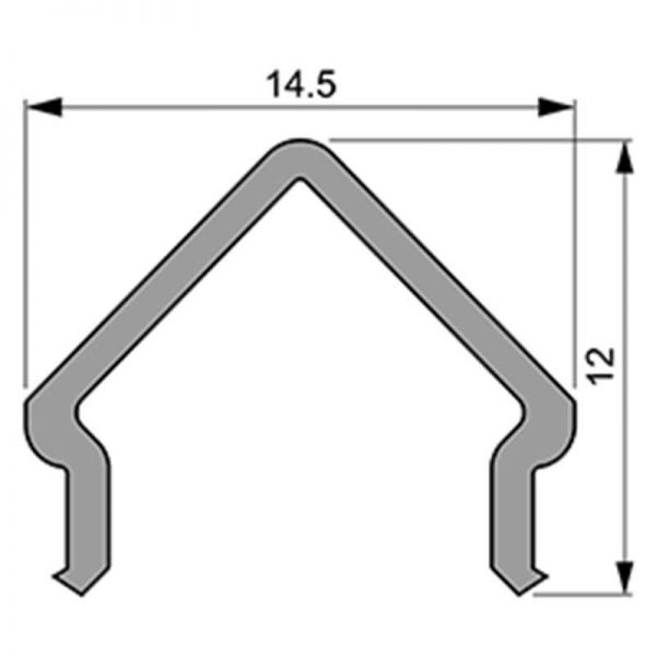Reprofil Abdeckung E-01-10 1m milchig plan