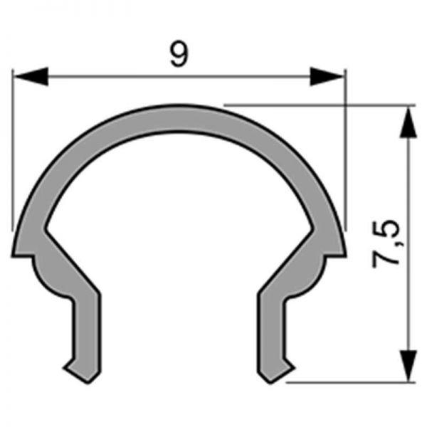 Reprofil Abdeckung R-01-05 2m milchig plan