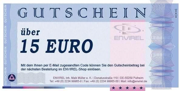 Online-Gutschein im Wert von 15 Euro
