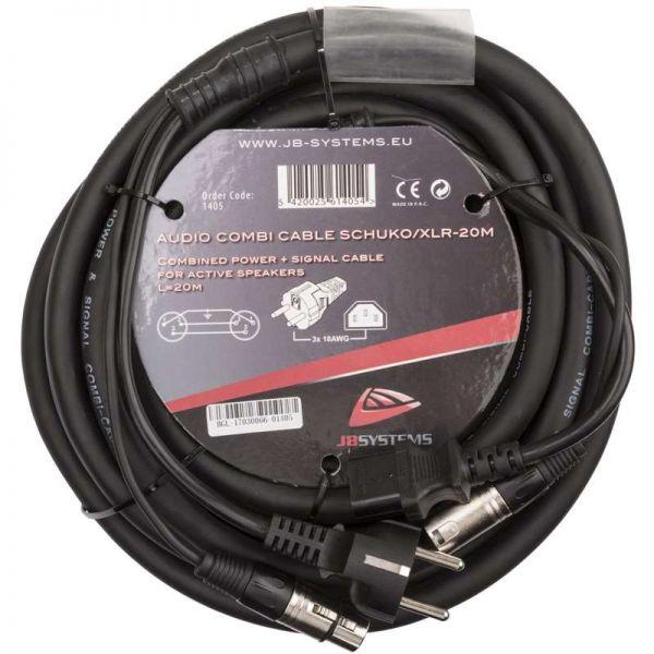 JB Systems Audio Combi Kabel Schuko/XLR 20,0 Meter