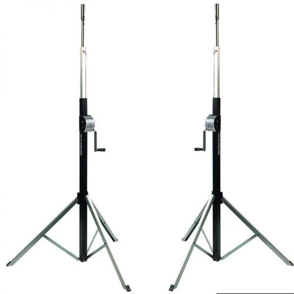 2x DT ST-3800B 3 Bein Stativ bis zu 3,8 Meter hoch