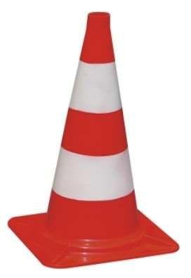 TEGO PRO Leitkegel 50cm rot/weiß