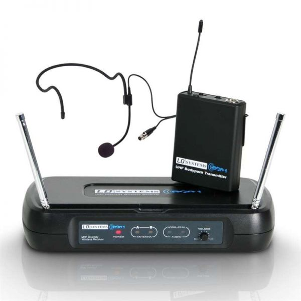 LD Systems ECO 2 Funkmikroset (Beltpack, Headset)