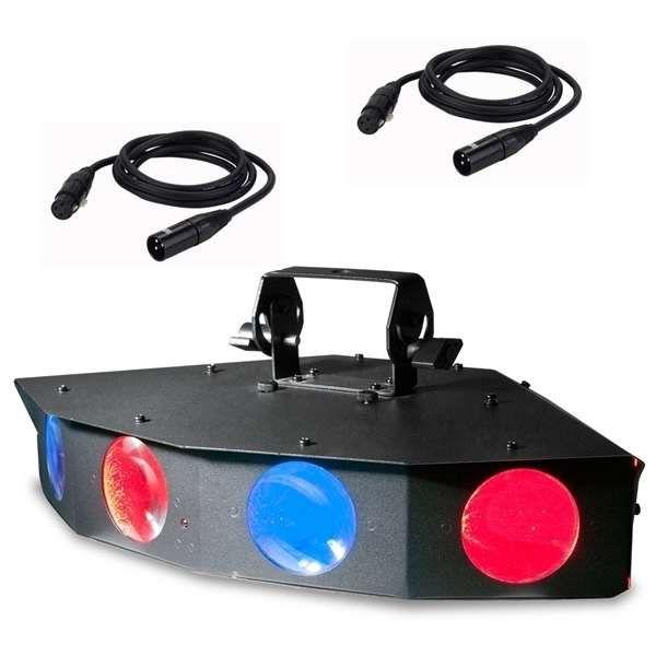 ADJ Monster Quad LED Effekt mit 2xDMX Kabel