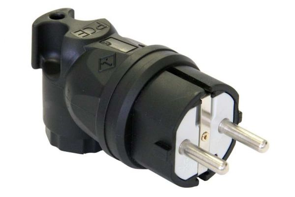 PCE Stecker Schuko Vollgummi-Winkel IP44