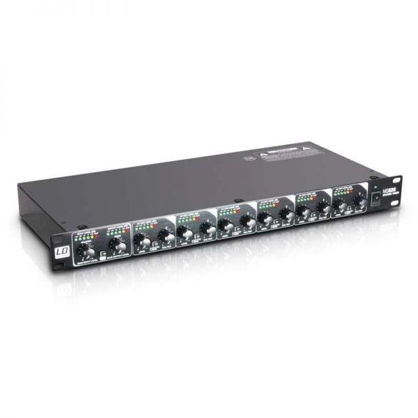 LD Systems MS 828 - 19 Zoll 8-Kanal Splitter/Mixer