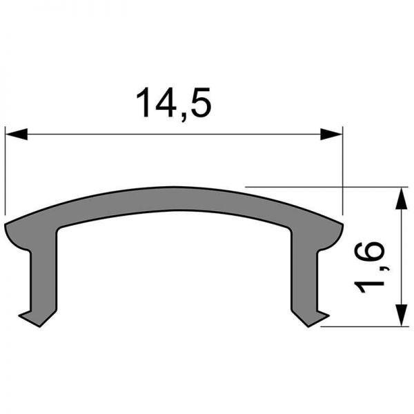 Reprofil Abdeckung F-01-10 3m milchig plan