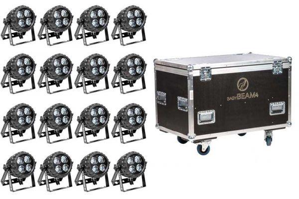 EHRGEIZ LED Baby Beam 4 16er Tourpack IP67 schwarz