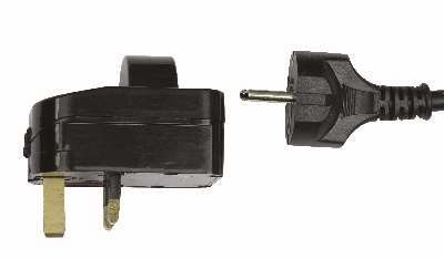 Showtec UK für Schuko Plug Adapter